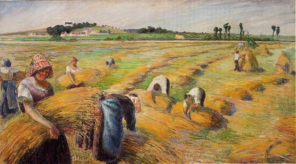Camille Pissarro, The Harvest, 1882, Bridgestone Museum of Art, Tokyo