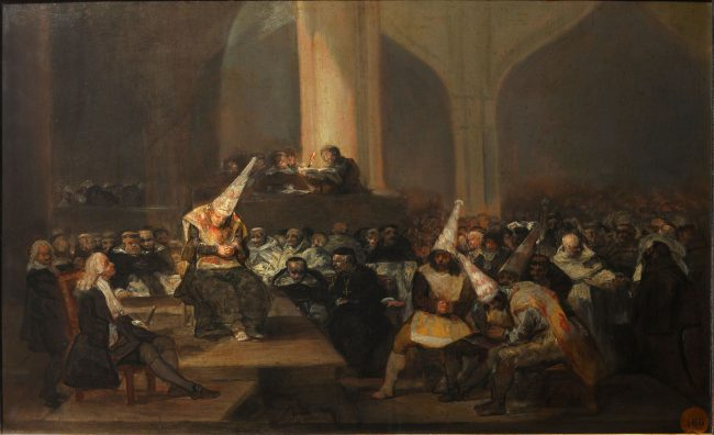 The Inquisition Tribunal as illustrated by Francisco de Goya (1808/12)