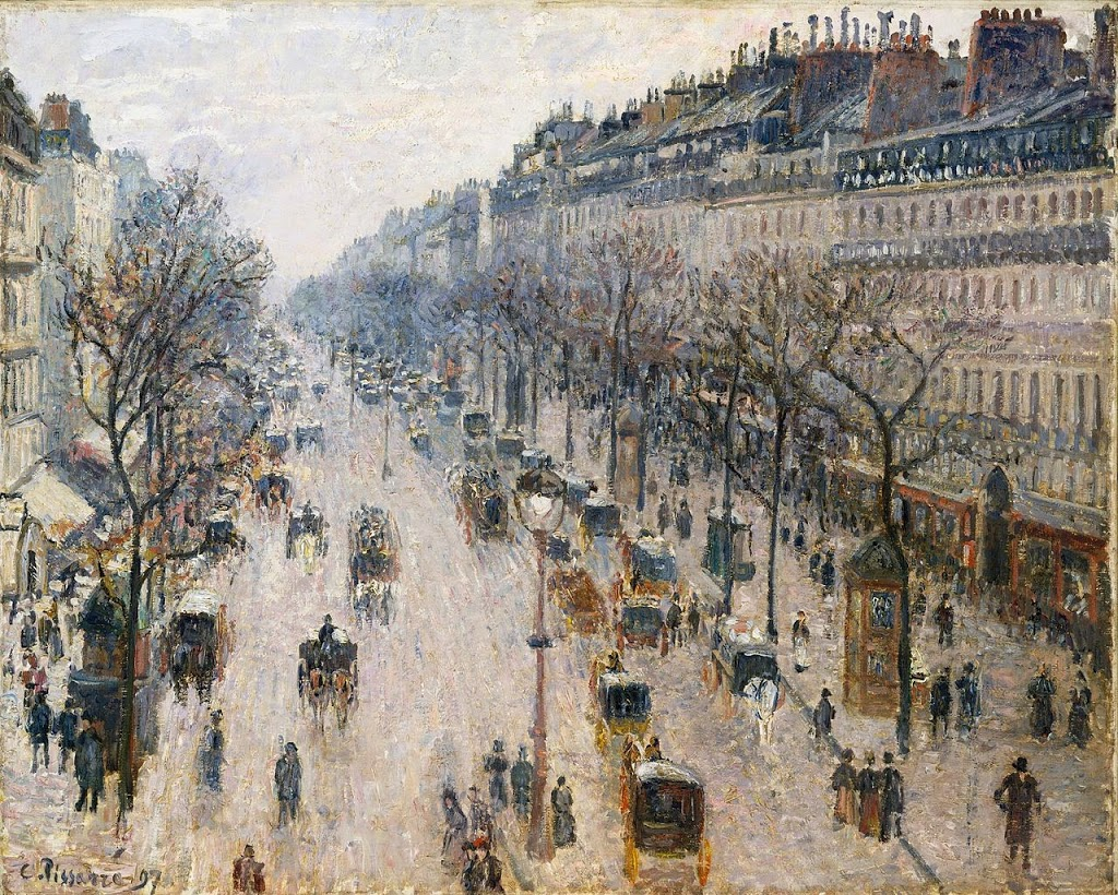 Camille Pissarro, The Boulevard Montmartre on a Winter Morning, 1897, Metropolitan Museum of Art