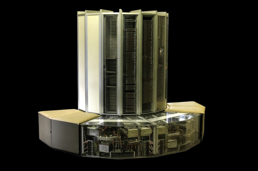 CRAY 1 with exposed interiors