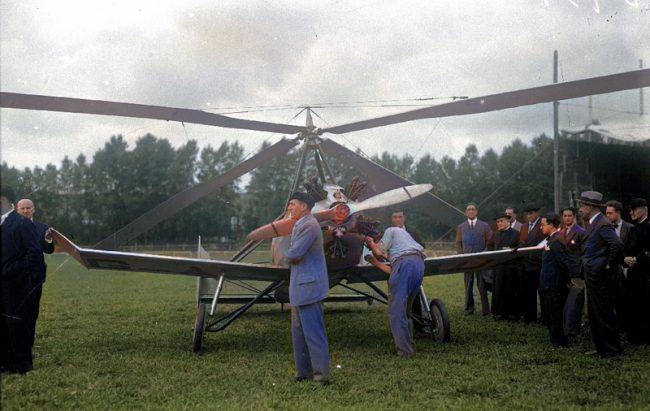 A Cierva C.12 autogyro in Lasarte, 1930.