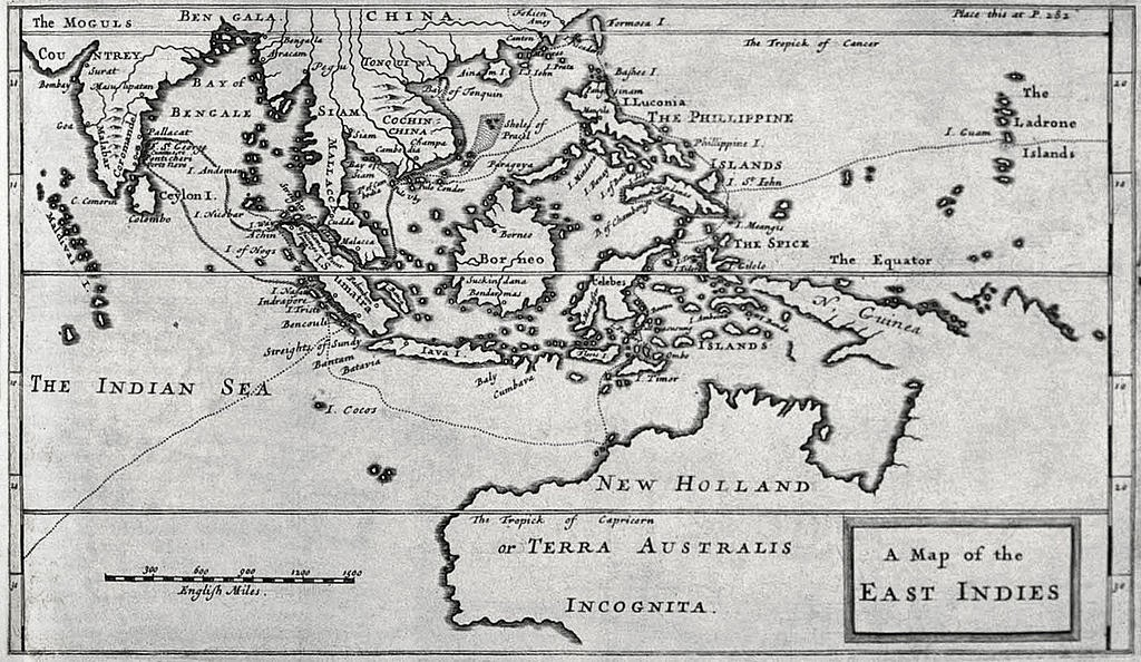 "Map of the East Indies from Dampier's ""A New Voyage Round the World"
