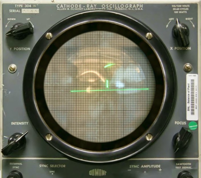 Tennis for Two played on an Oscilloscope