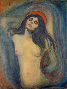 Madonna by Edvard Munch Version from Munch Museum, Oslo Image: wikipedia