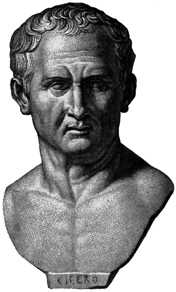 Cicero, engraving after antique inscribed portrait in Apsley House, London