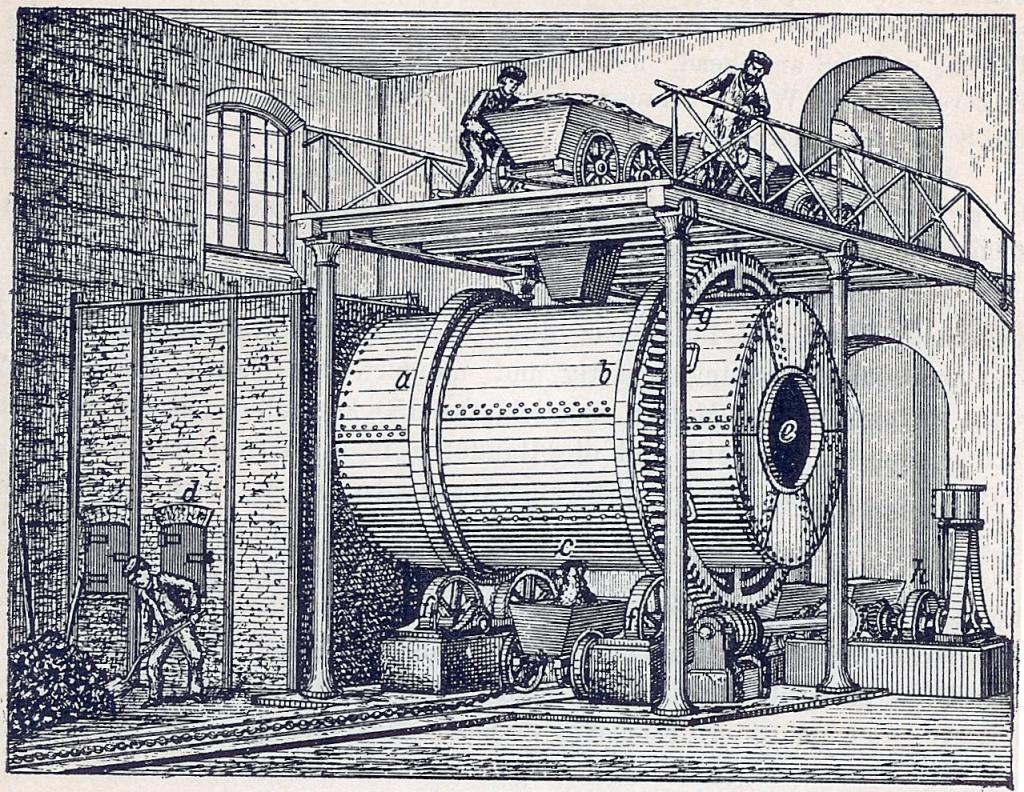 Leblanc cylinder furnace
