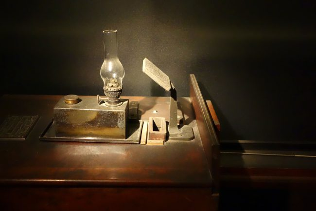 Milne's Horizontal Pendulum Seismograph, Exhibit in the National Museum of Nature and Science, Tokyo, Japan.