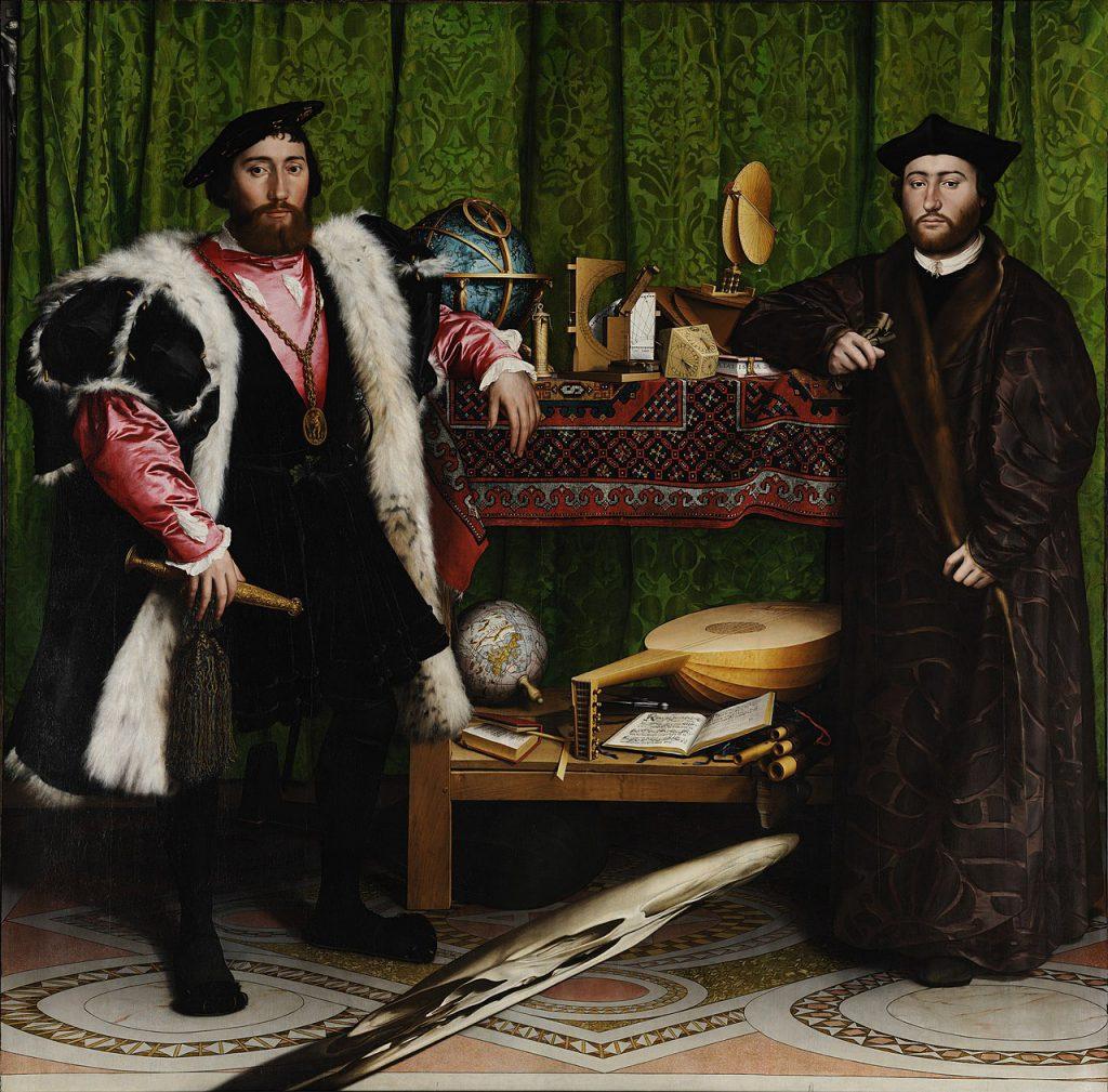 Jean de Dinteville, French Ambassador to the court of Henry VIII of England, and Georges de Selve, Bishop of Lavaur.