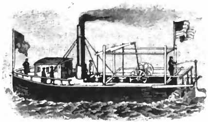 Steamboat of April 1790 used for passenger service