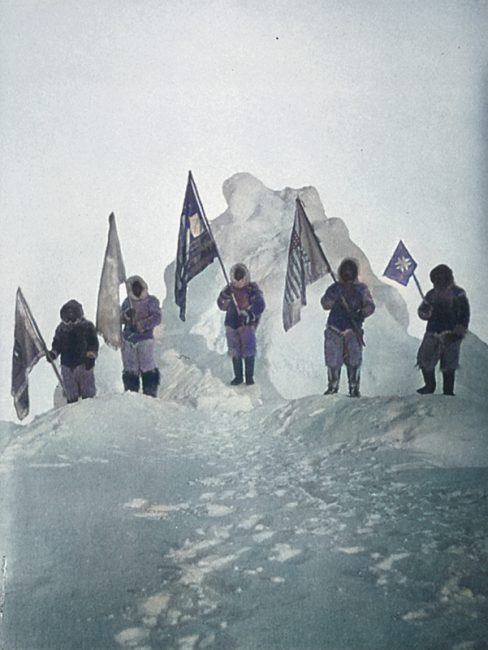 The expedition allegedly reaching the North Pole, April 1909