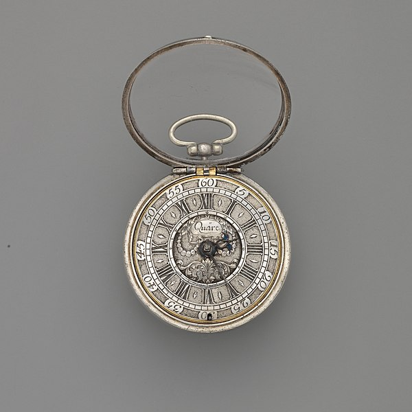 Pocket Watch by Daniel Quare, c. 1690