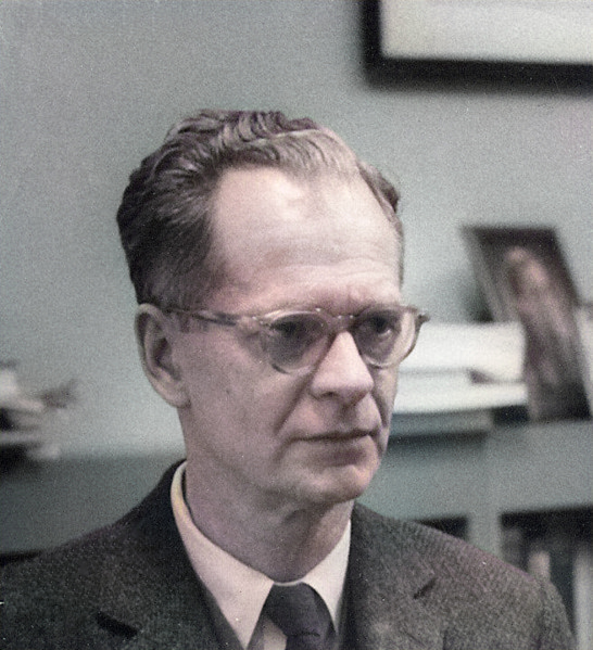 B.F. Skinner at the Harvard Psychology Department, c. 1950