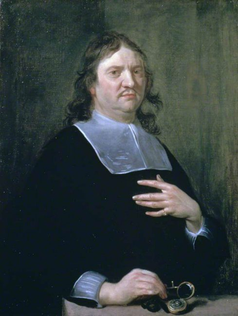 Henry Oldenburg (1612-1677), founding editor and publisher of the Philosophical Transactions, painting by Jan van Cleve (1688)