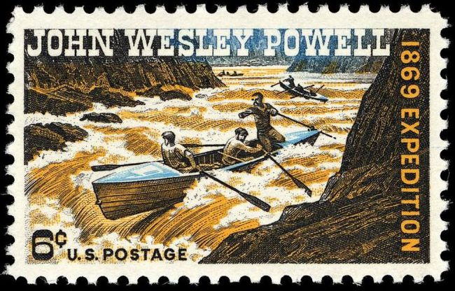 John Wesley Powell was honored on a U.S. commemorative stamp in 1969.
