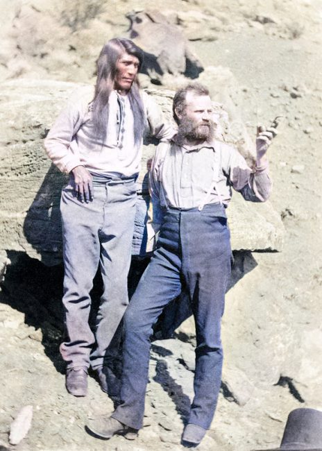 John Powell with Tau-gu, a Paiute