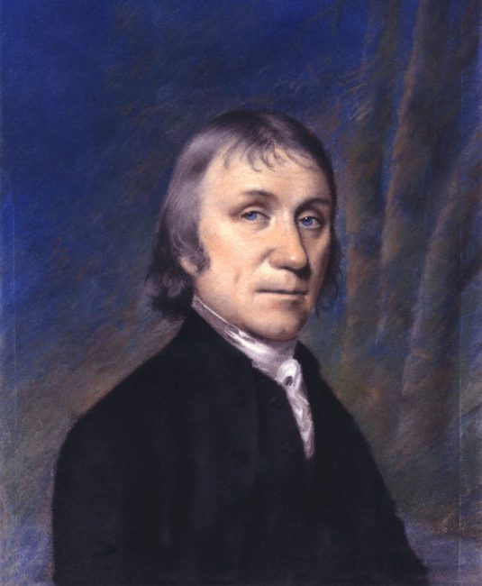 Portrait of Joseph Priestley by Ellen Sharples (1794)