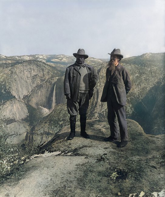 Nature preservationist John Muir (right) and U.S. President Theodore Roosevelt