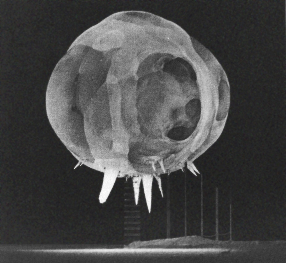 Nuclear explosion captured by Edgerton's Rapatronic camera (U.S. Air Force 1352nd Photographic Group)