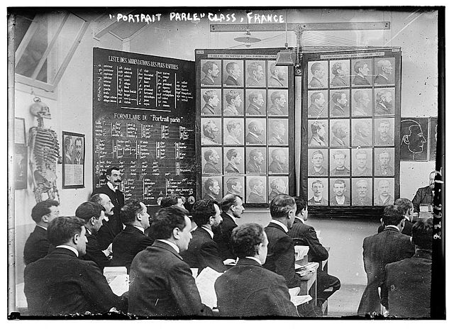 Class on the Bertillon System in 1911