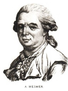 Franz Anton Mesmer (1734-1815) was a German physician with an interest in astronomy who theorised that there was a natural energetic transference that occurred between all animated and inanimate objects that he called animal magnetism, sometimes later referred to as mesmerism.