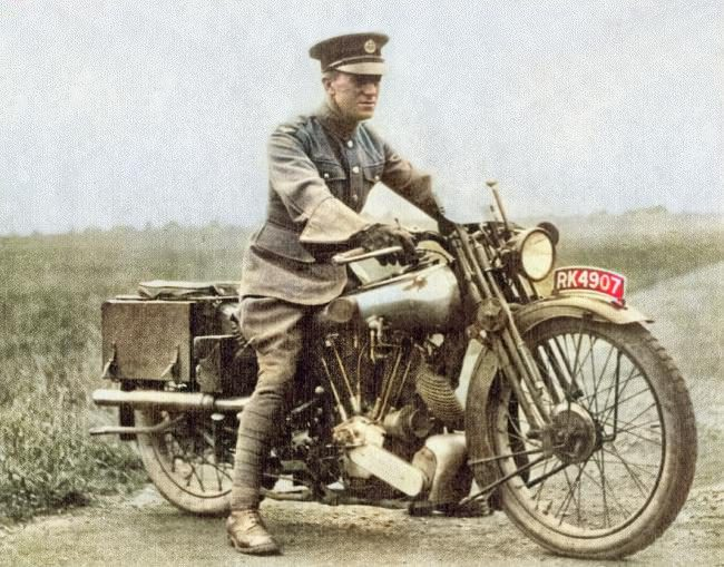 "Lawrence on the Brough Superior SS100 that he called ""George V"""
