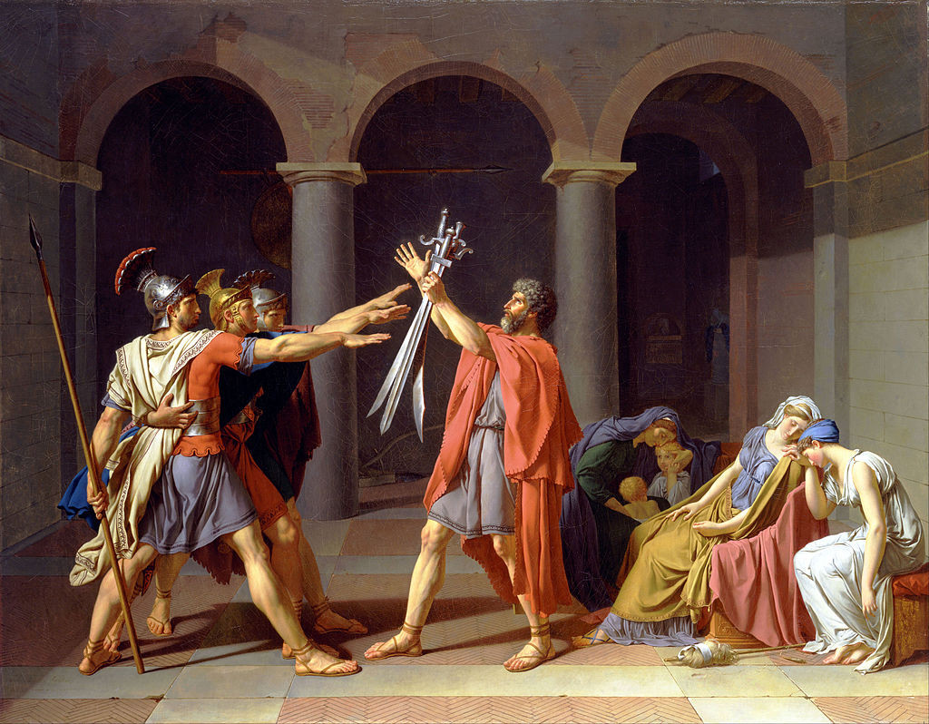 Jacques-Louis David: Oath of the Horatii (1784)