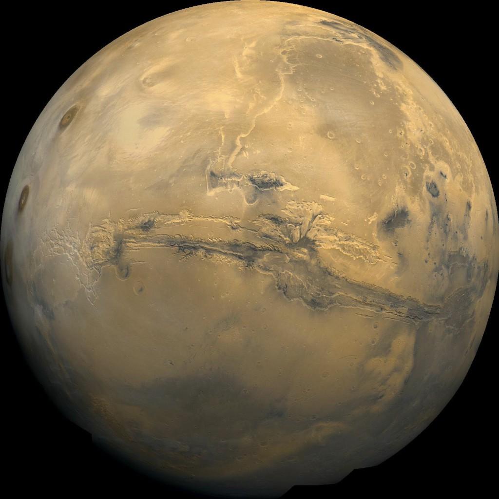 Mars image mosaic from the Viking 1 orbiter