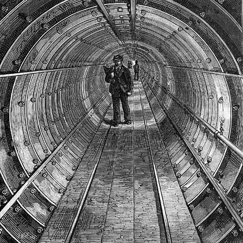 London Tower Subway in 1870