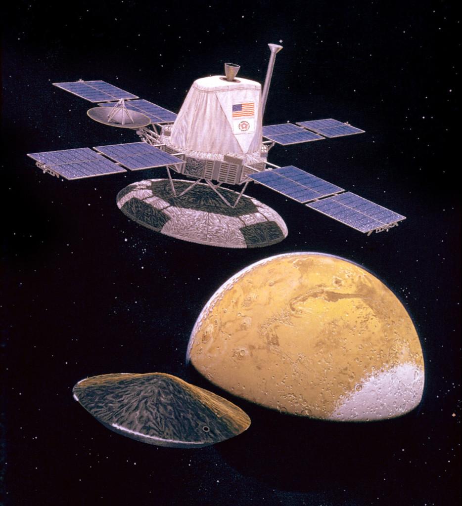 Viking Orbiter releasing the lander