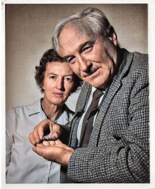 Louis Leakey, British archeologist and anthropologist Mary Douglas Nicol Leakey (1913-1996) and her husband Louis Seymour Bazett Leakey (1903-1972), 1962. Cite as: Acc. 90-105 - Science Service, Records, 1920s-1970s, Smithsonian Institution Archives