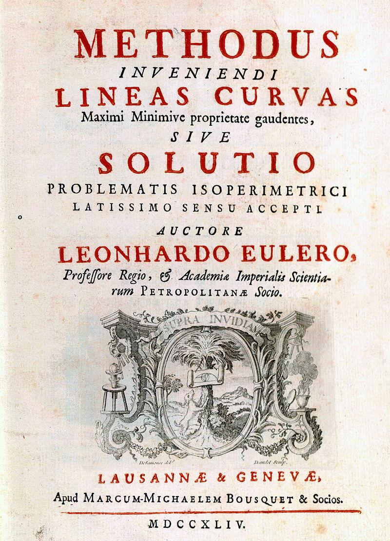 The title page of Euler's Methodus inveniendi lineas curvas.