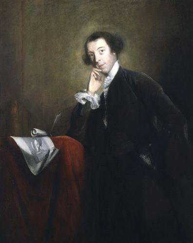 Horace Walpole (1717-1797), painting by Joshua Reynolds 1756
