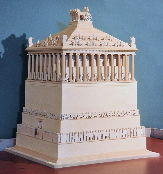 Model of the Mausoleum at Halicarnassus, at the Bodrum Museum of Underwater Archaeology.