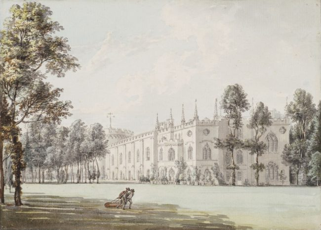 Strawberry Hill from the Southeast, 18th-century watercolour by Paul Sandby