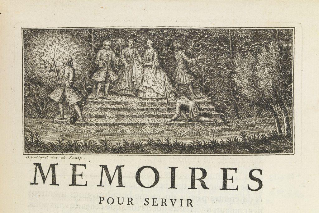 Illustration de la page de titre du volume 6 des Mémoires pour servir à l'histoire des insectes (1742).