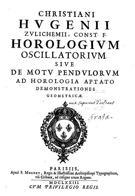 Horologium oscillatorium sive de motu pendulorum, 1673