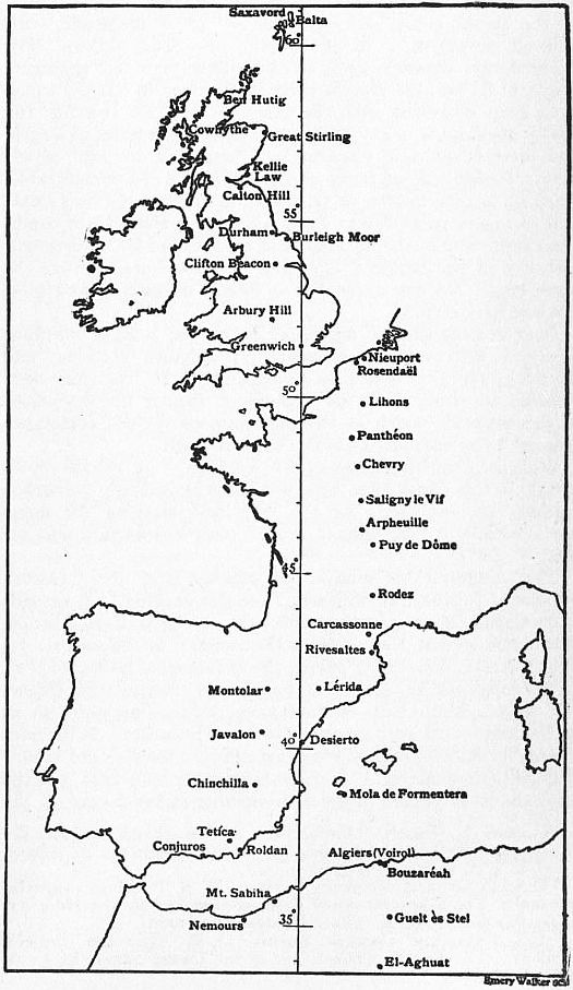The line down the middle of the map is the Greenwich meridian.