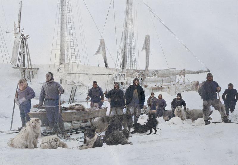 Preparations for Nansen and Johansen's polar trek, 14 March 1895