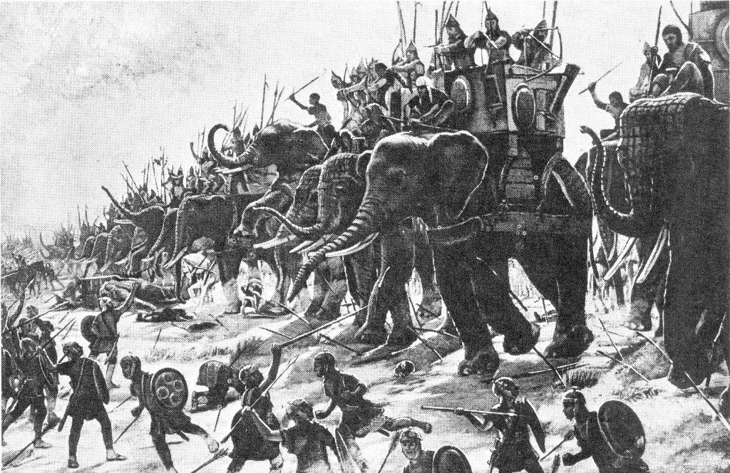 The Battle of Zama by Henri-Paul Motte, 1890.