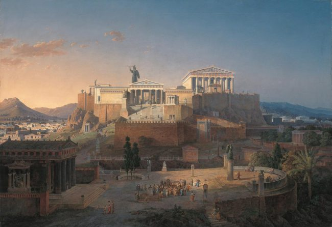 Leo von Klenze, The Acropolis at Athens (1846)
