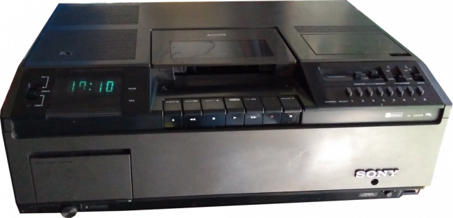 Sony Betamax video recorder.