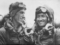 Edmund Hillary and Tenzing Norgay on Top of Mount Everest
