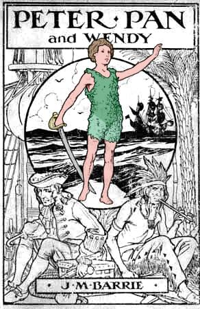 J.M. Berrie, Peter Pan and Wendy, Cover Illustration, (1915)
