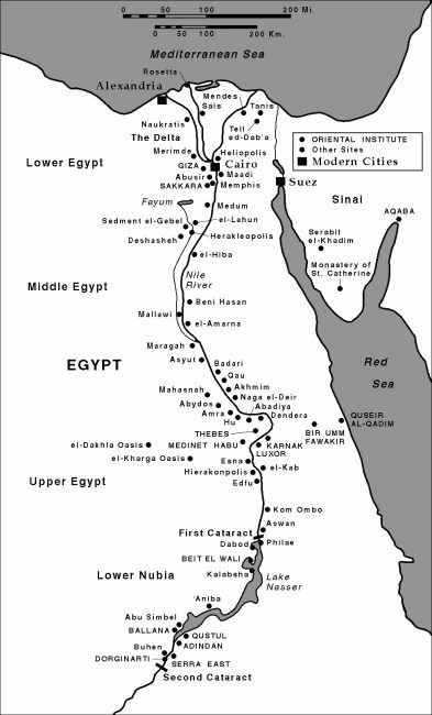 Ancient excavation sites in Egypt