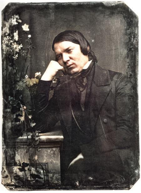 Robert Schumann (1810-1856) in an 1850 daguerreotype