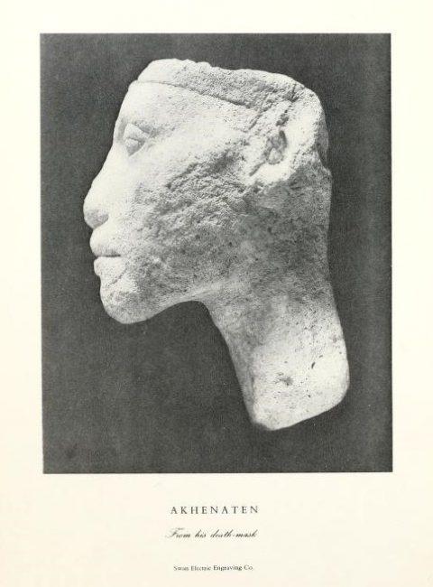 Totenmaske Echnatons aus Amarna