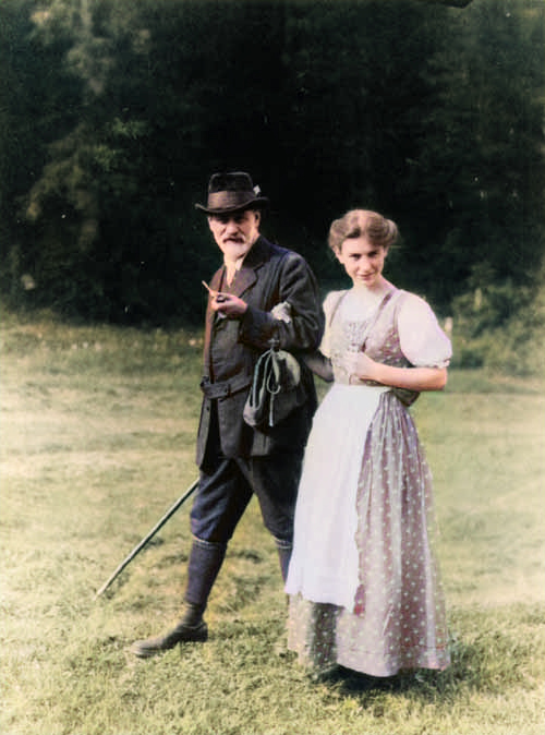 Anna Freud and Siegmund Freud