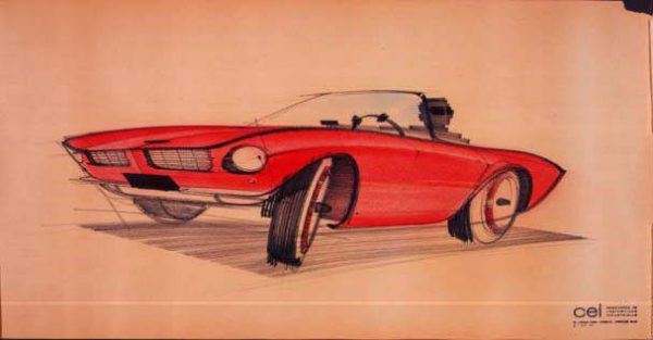 Raymond Loewy sketch of the 1963 Studebaker Avanti