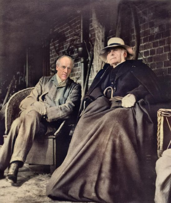 Karl Pearson (1857-1936) with Sir Francis Galton, 1909 or 1910.
