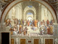 Raphael and his famous School of Athens